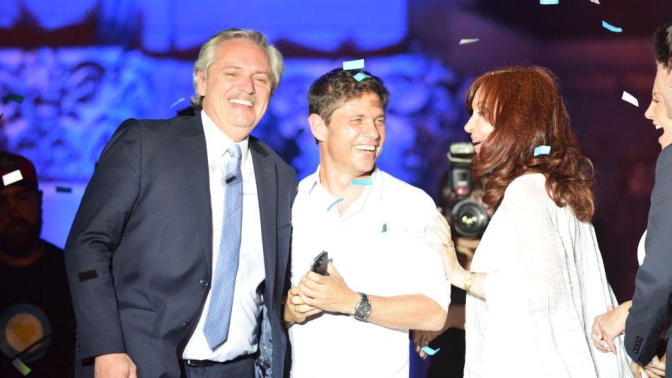 Fiesta plaza de mayo Cristina Kirchner Alberto Fernández