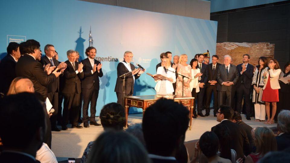 Alberto Fernández y su Gabinete.