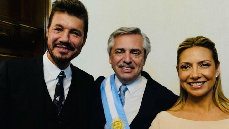 Marcelo Tinelli, Alberto Fernández y Fabiola Yáñez