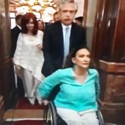Alberto Fernández y Gabriela Michetti | Foto:Cedoc