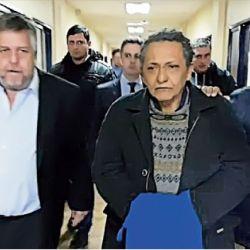 En comodoro Py. Centeno con el fiscal Carlos Stornelli, al frente del caso de los cuadernos de la corrupción K.   Foto:cedoc