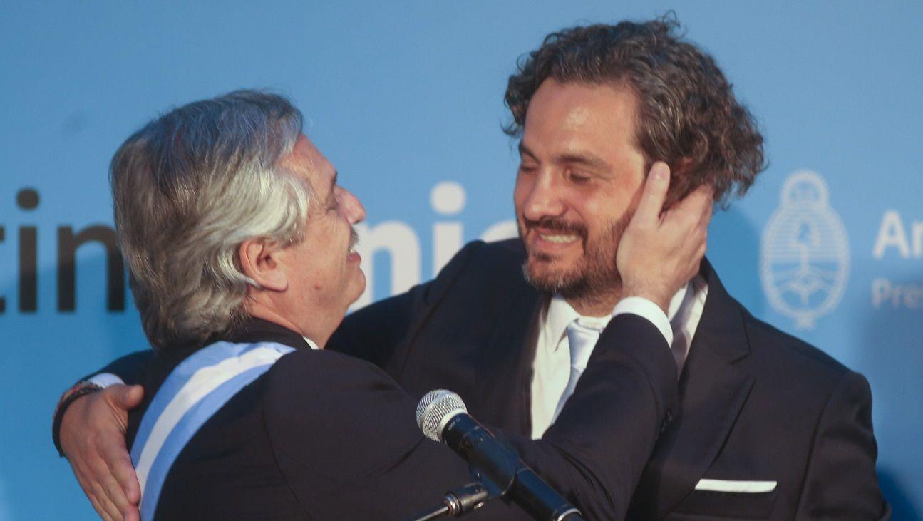 Santiago Cafiero y Alberto Fernández