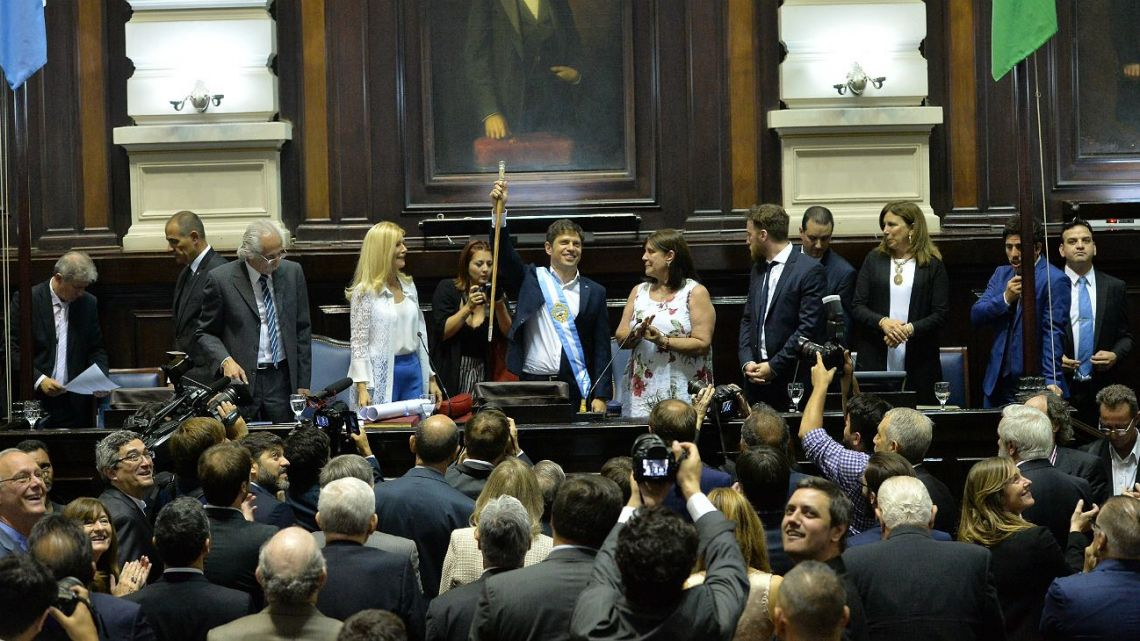 Axel Kicillof is sworn in as governor of Buenos Aires Province