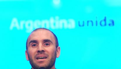 Martín Guzmán en conferencia de prensa.