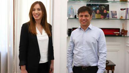 María Eugenia Vidal y Axel Kicillof.