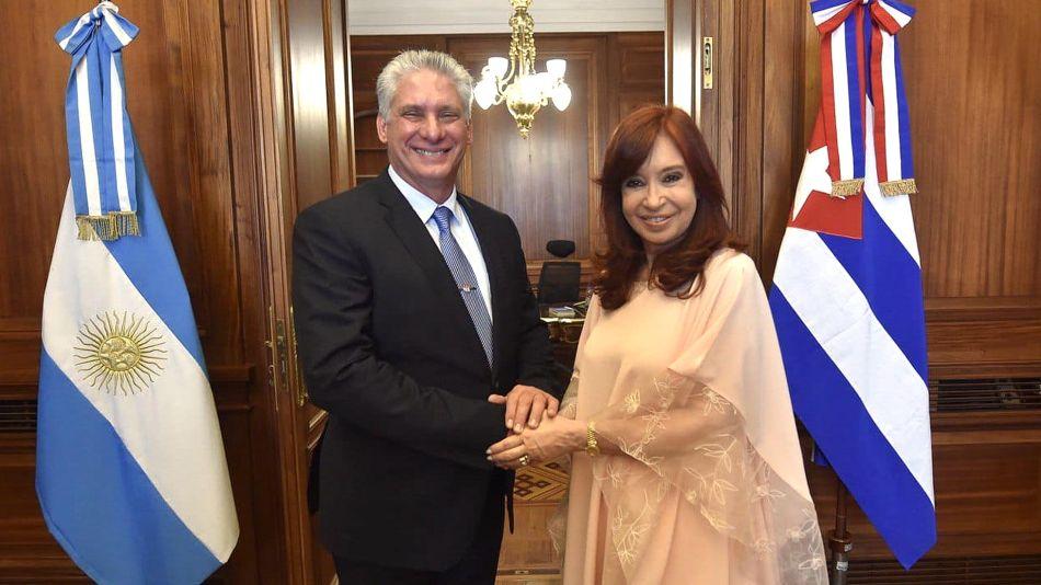 Cristina Fernández y el Presidente de Cuba 20191211