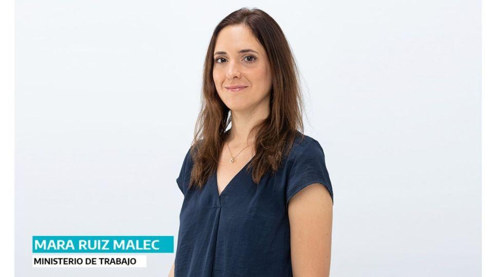 Mara Ruiz Malec, ministra de Trabajo.