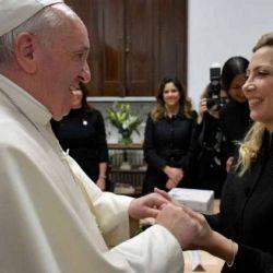 El Papa Francisco y Fabiola Yañez | Foto:Cedoc