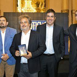 Néstor Nocetti, Guibert Englebienne y Martín Umaran, fundadores de Globant; y Nelson Castro | Foto:Equipo de Fotografía de Perfil