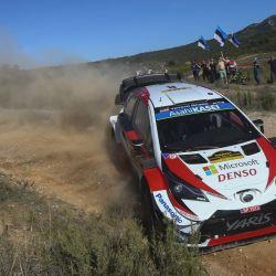 Toyota Yaris WRC del campeón mundial de rally Ott Tänak.