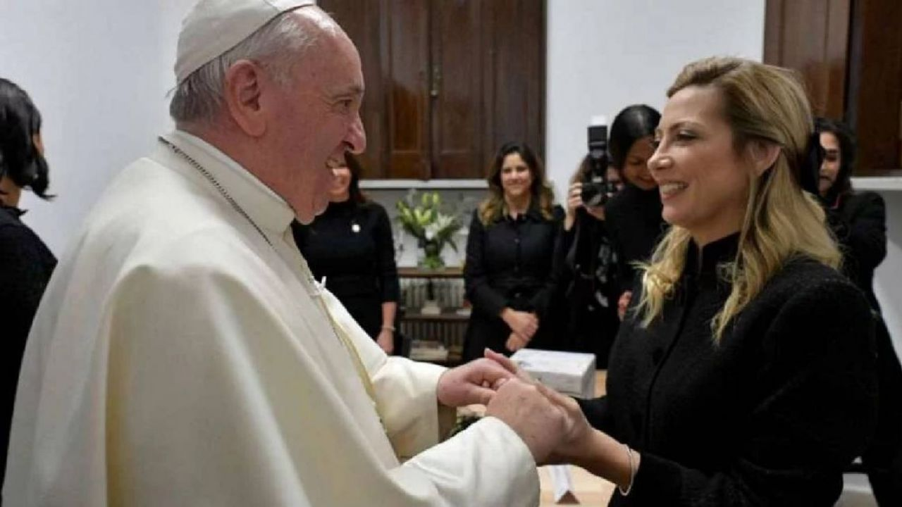 El Papa Francisco y Fabiola Yañez   Foto:Cedoc