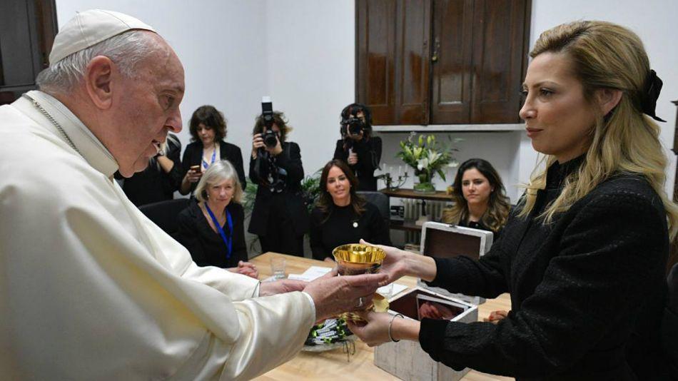 El cáliz de Luján, el regalo de Fabiola para el papa Francisco.