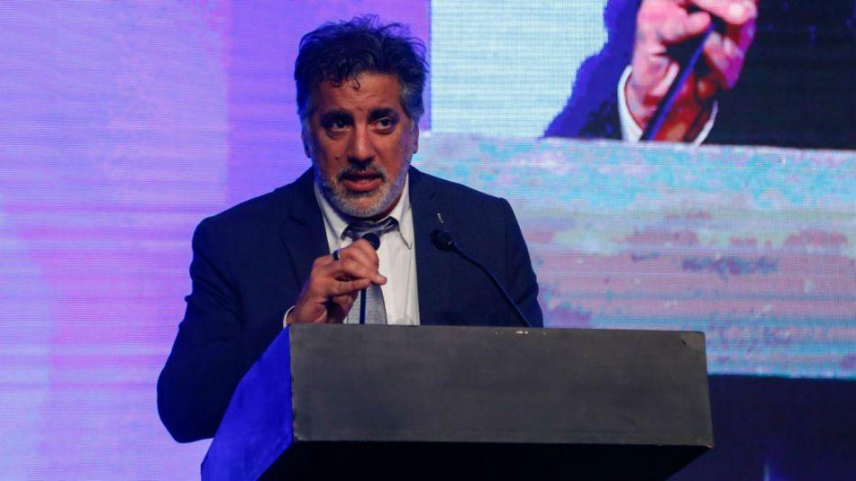 El secretario de Medios y Comunicación Pública, Francisco Meritello, leyó el mensaje de Alberto Fernández.