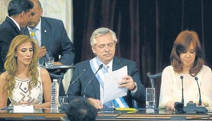 Discurso. El presidente Alberto Fernández llamó a la reconciliación y acuerdo nacional.
