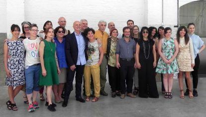 El Consejo Cultural de la Ciudad de Buenos Aires junto al ministro de Cultura de la ciudad, Enrique Avogadro, reunidos durante la presentación de las recomendaciones para las políticas públicas.