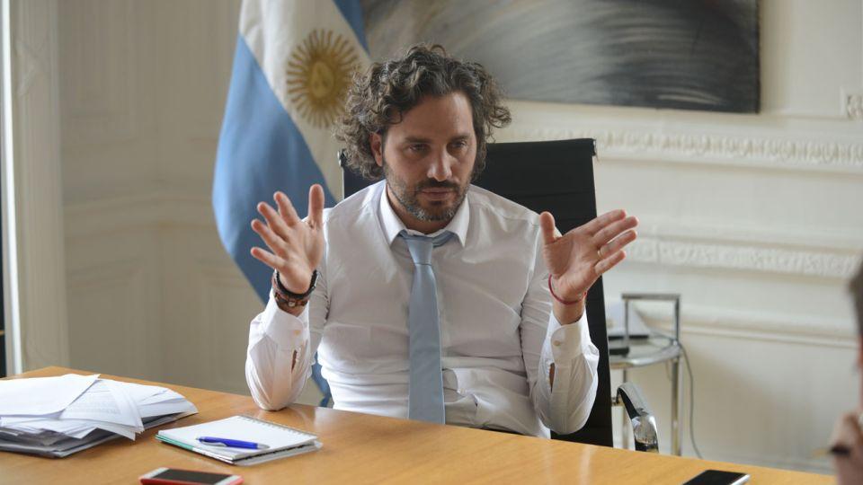El jefe de Gabinete, Santiago Cafiero.