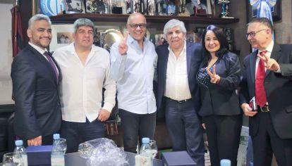 Recepción. Moyano recibió a Jorge Rodríguez, el ministro que envió el venezolano Nicolás Maduro.