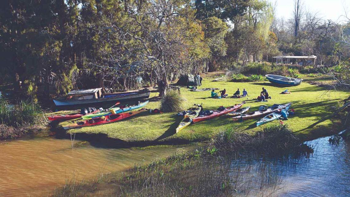 Tres días a puro kayak por la Reserva de Biosfera Delta del Paraná