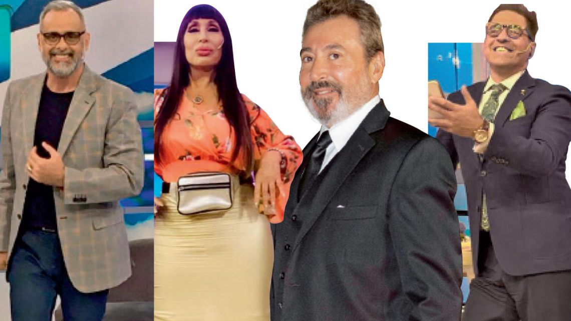 Jorge Rial, Moria Casán, Daniel Vila y Mariano Iúdica   Foto:Cedoc