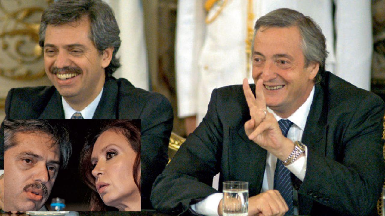Pasado. Fernández como jefe de gabinete de Cristina y Néstor, en los primeros años K.   Foto:Cedoc