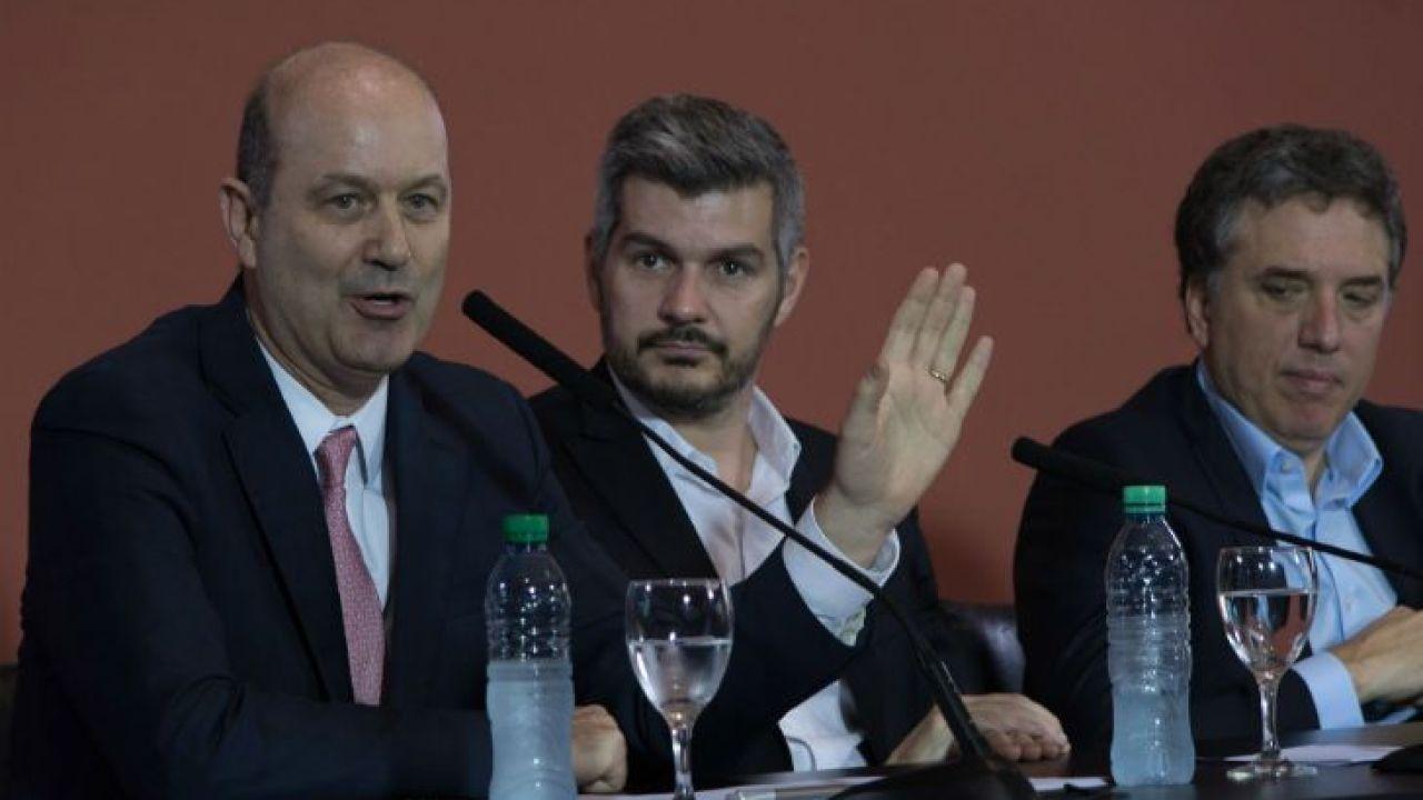 Sturzenegger, Marcos Peña y Dujovne | Foto:Cedoc
