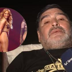 Jennifer López y Diego Maradona