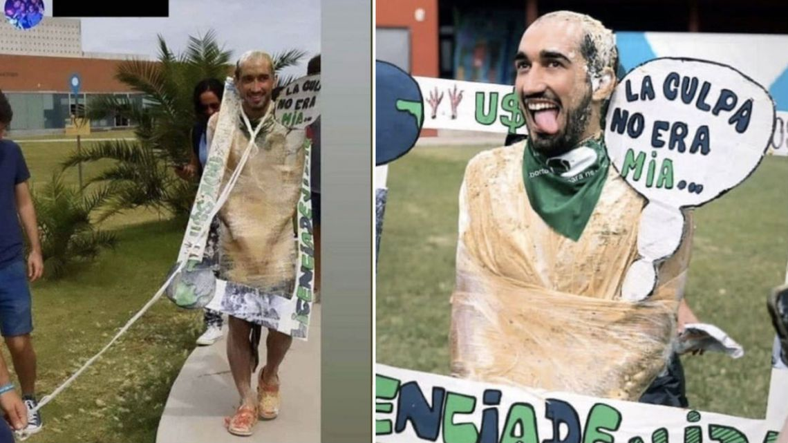 Tomás Vidal wears hateful costume for graduation celebration