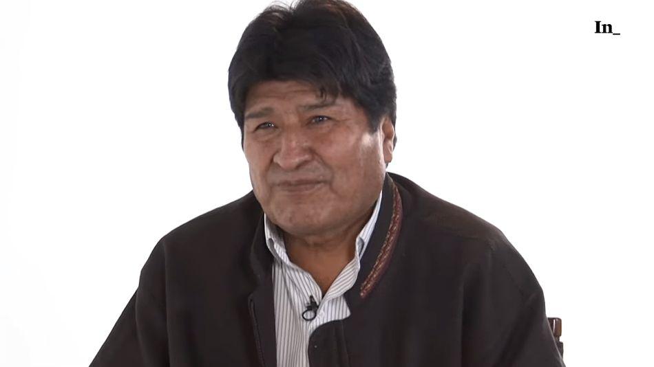 Evo Morales en la entrevista con el periodista Gleen Greenwald