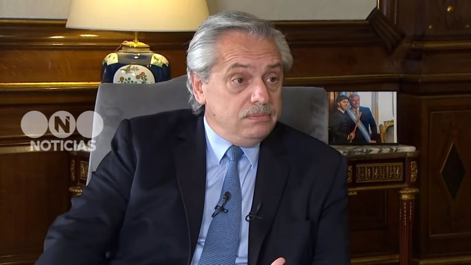presidente Alberto Fernández entrevista