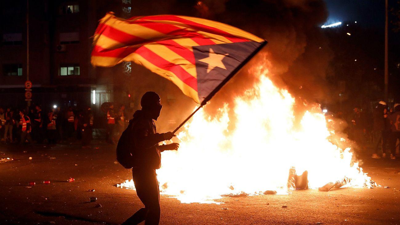 Incidentes tras el clásico entre Real Madrid y Barcelona.