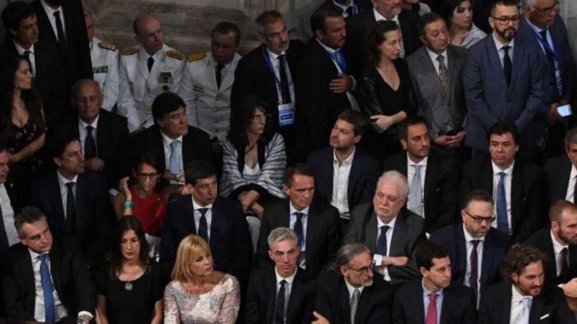 Los ministros en el Congreso | Foto:Cedoc
