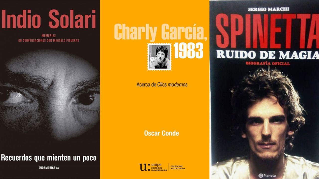 """El """"Indio"""" Solari, Charly García y Luis Alberto Spinetta entre los protagonistas    Foto:Cedoc"""
