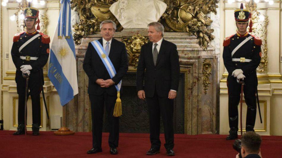 Alberto Fernández en la Casa de Gobierno