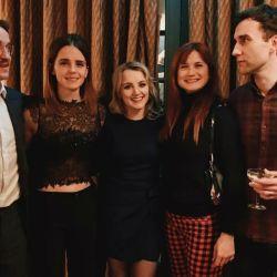 Tom Felton, Emma Watson, Evanna Lynch, Bonnie Wright y Mathew Davis