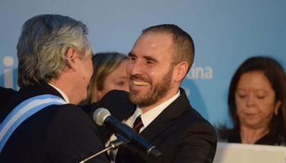 Martín Gumzán junto al presidente Alberto Fernández.