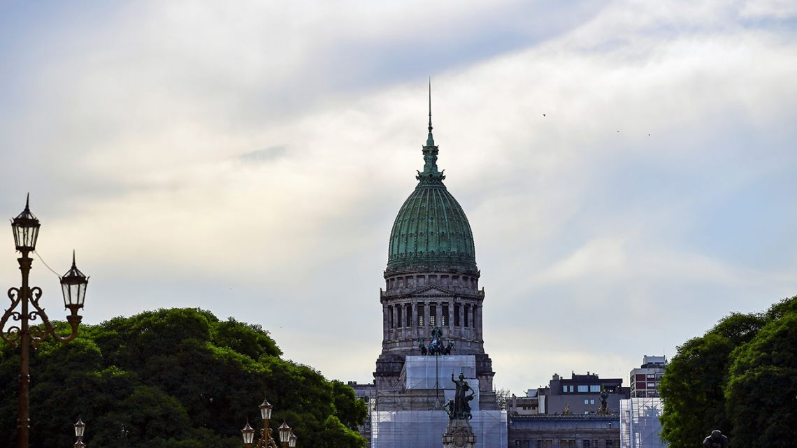 A general view of the National Congress on December 19, 2019, while new economic laws proposed by new President Alberto Fernández are under debate.