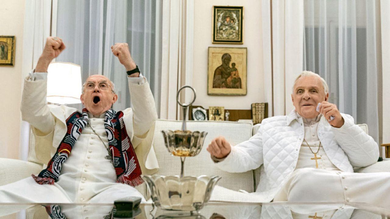 Los dos Papas, la apuesta de Netflix por el Oscar.    Foto:Gentileza Netflix