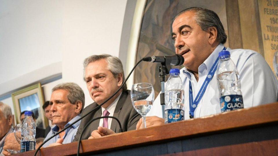 Héctor Daer y Alberto Fernandez.