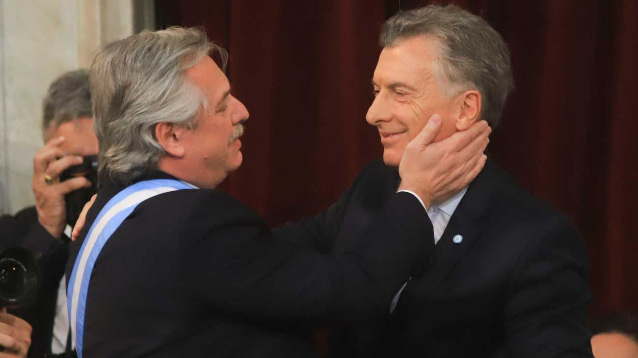 Alberto Fernández y Mauricio Macri.