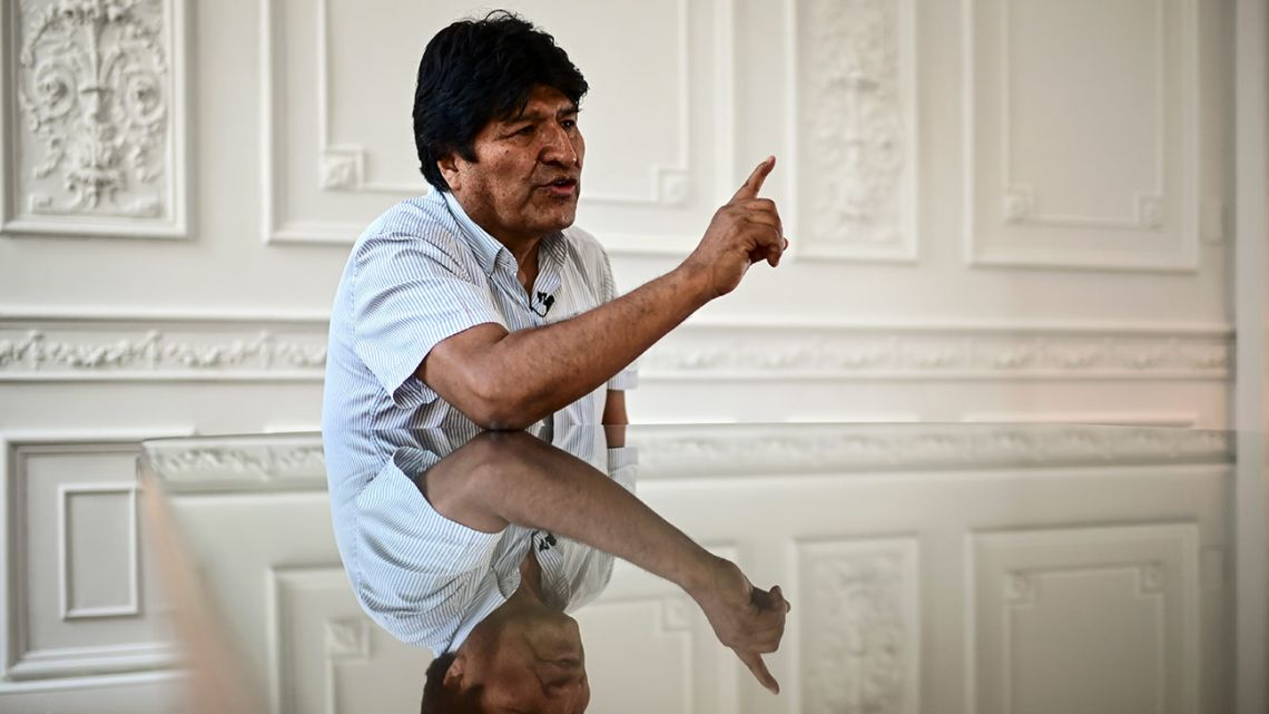 Bolivia's ex-president Evo Morales speaks during an interview with AFP in Buenos Aires, on December 24, 2019.