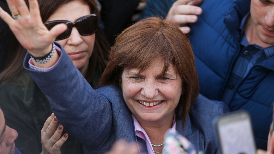 Former security minister Patricia Bullrich.