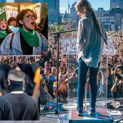 MOVIMIENTOS. Greta provocó que millones de jóvenes salieran a las calles alrededor del mundo para unirse a su causa Fridays For Future. Los antisistema europeos y las marchas de pañuelos verdes.   Foto:DPA
