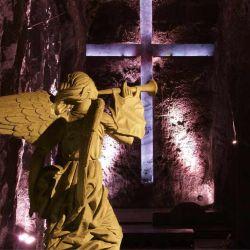 En sus tres naves entran unas 3.500 personas. Crédito: Archivo Oficial de Catedral de Sal de Zipaquirá.