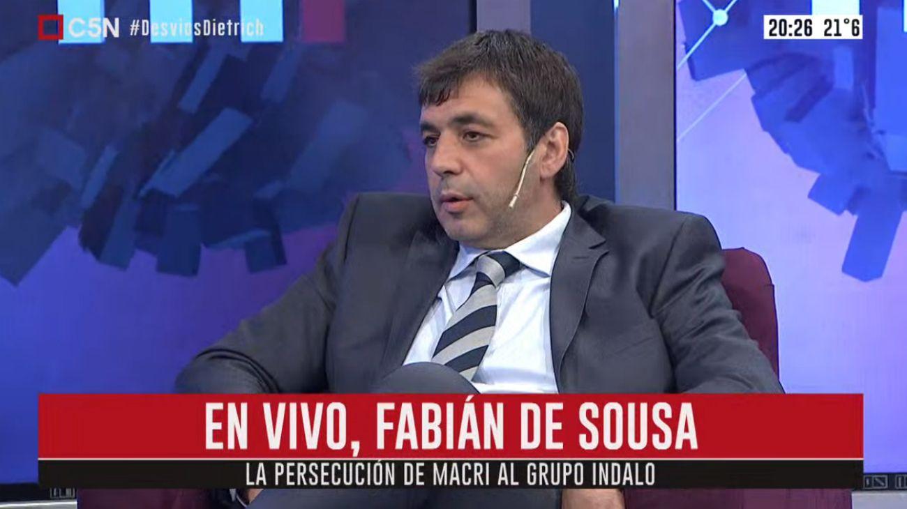 """Fabián de Sousa rompió el silencio en C5N: """"Perdí dos años de mi vida en injusta detención"""""""