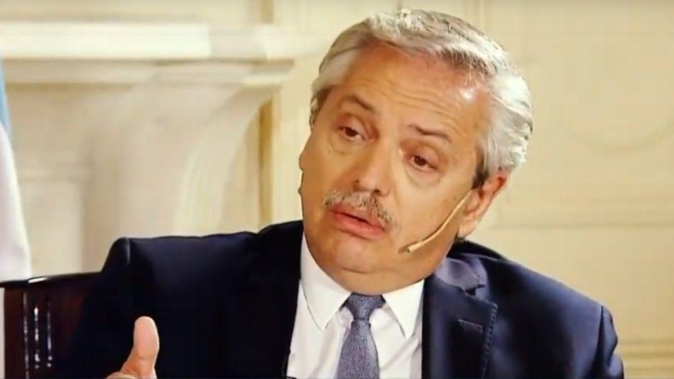 Alberto Fernández entrevistado en Todo Noticias