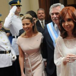 Cristina Kirchner junto a Alberto Fernández, Fabiola Yáñez, Estanislao Fernández y Sergio Massa | Foto:Sergio Piemonte
