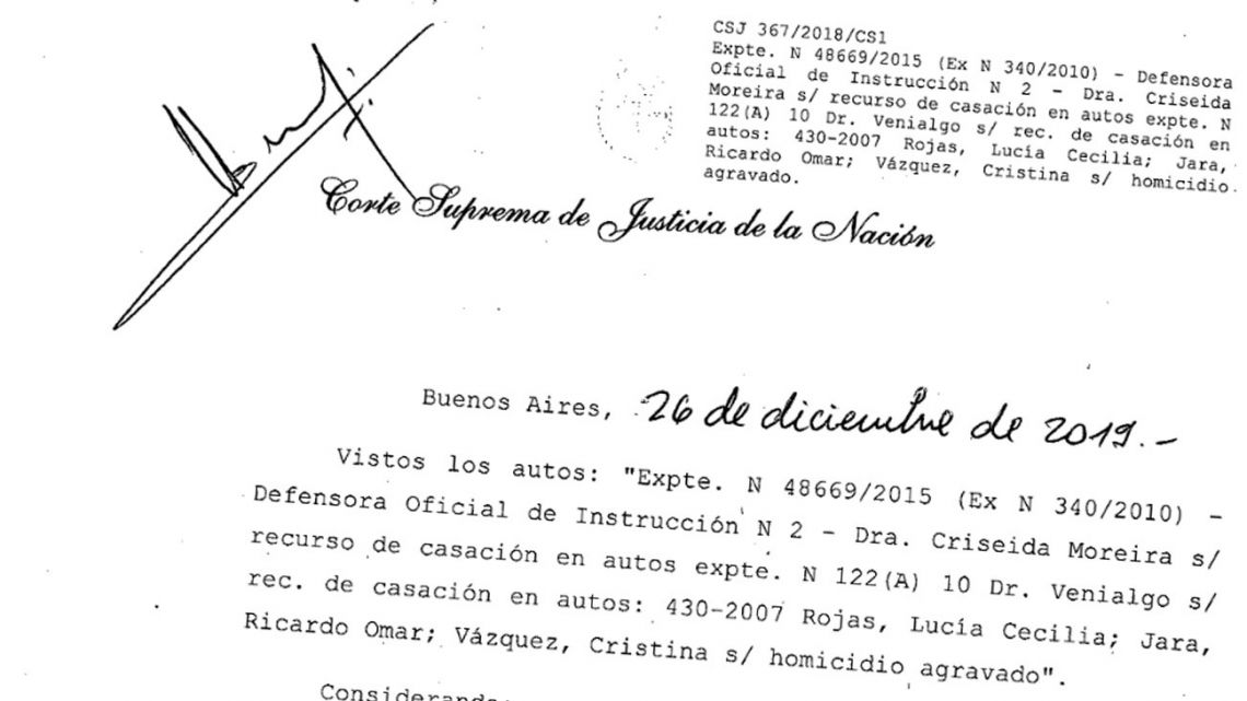 The ruling that absolved Lucía Cecilia Rojas and Cristina Vazquez after 14 years of wrongful imprisonment