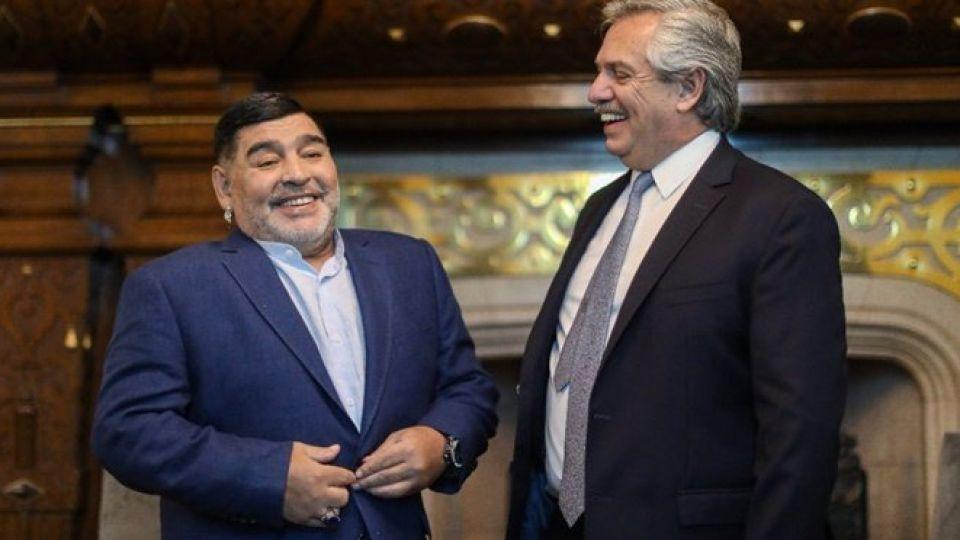 Alberto Fernández habló de su encuentro con Diego Maradona