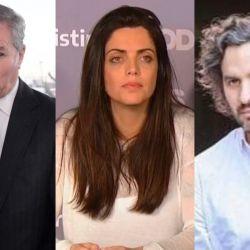 Felipe Solá, Luana Volnovich, Santiago Cafiero   Foto:Cedoc