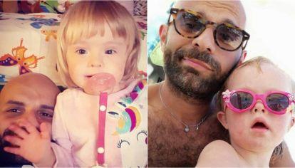 Luca Trapanese junto a su hija Alba. Juntos comparten su día a día en Instagram, red en la cual acumulan más de 200 mil seguidores.